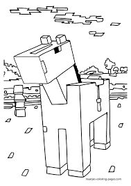 Stampylongnose Minecraft Coloring Crokky Pages