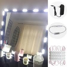 white led lighted vanity mirror lights bulbs kit for makeup