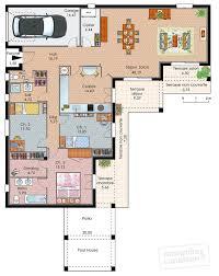 plan maison en l plain pied 3 chambres plan maison individuelle 3 chambres 102 habitat concept de plain
