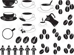 Coffee Cups And Beans Vector Image Artwork Of Sport Leisure C Alexghidan89 Click To Zoom