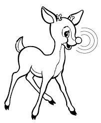 Rudolph Reindeer Coloring Page