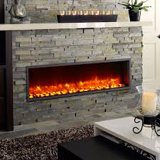How To Put In A Gas Fireplace by Built In Electric Fireplace Insert Mantelsdirect Com