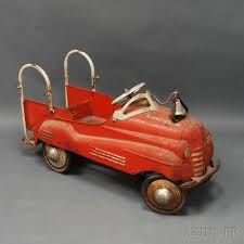 Murray Red-painted Fire Engine Pedal Car | Sale Number 2722T, Lot ... Goki Vintage Fire Engine Ride On Pedal Truck Rrp 224 In Classic Metal Car Toy By Great Gizmos Sale Old Vintage 1955 Original Murray Jet Flow Fire Dept Truck Pedal Car Restoration C N Reproductions Inc Not Just For Kids Cars Could Fetch Thousands At Barrett Model T 1914 Firetruck Icm 24004 A Late 20th Century Buddy L Childs Hook And Ladder No9 Collectors Weekly Instep Red Walmartcom Stuff Buffyscarscom Page 2