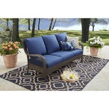 better homes and gardens colebrook outdoor sofa seats 3 walmart com