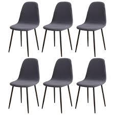 esszimmerstühle bezug 6er set jacquard stoff gepolstert esszimmer stuhlhussen shell oval grau blau