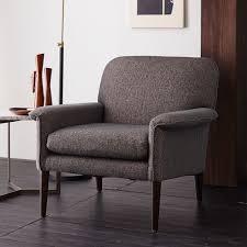 West Elm Everett Chair Leather by Anders Armchair Slate Chenille Tweed West Elm Troy