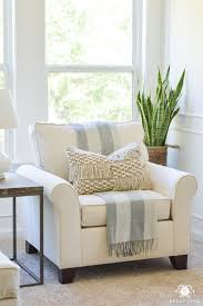 Oversized White Chair In The Bedroom Sitting Area #WhiteChair ...