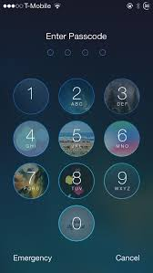 Faces add images to each of the Lock screen passcode keys