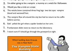 Is Halloween Capitalized by Using Punctuation This Halloween Worksheet Education Com