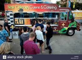 People Lining Up At New Orleans Cuisine & Catering At The