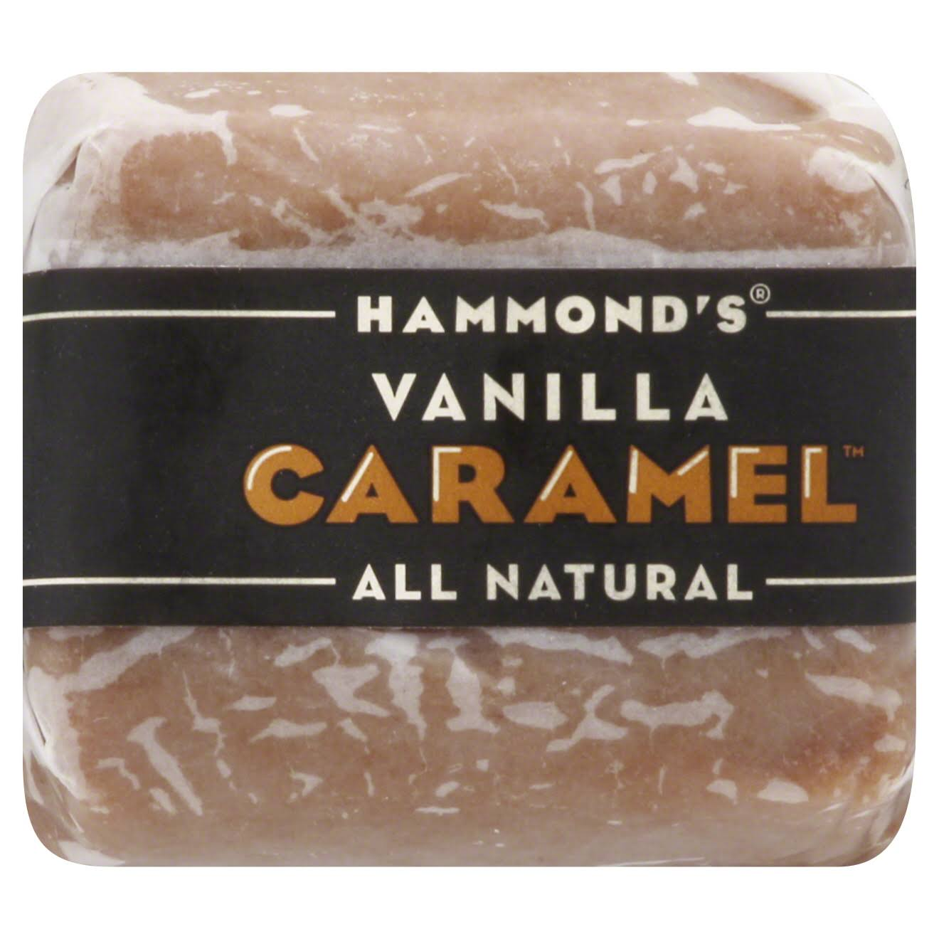 Hammonds Candy Vanilla Caramels Wrapped - 16pcs, 1lb