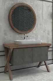casa padrino luxus badezimmer set dunkelbraun dunkelgrau 1 waschtisch mit 2 türen und 1 waschbecken und 1 wandspiegel luxus kollektion