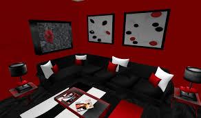 Bedroom Design Ideas Red Black White Interior