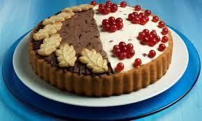 torte mit schoko und frucht belag
