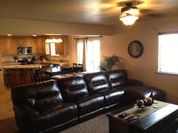 Black Leather Couch Living Room Ideas by Lovely Brown Leather Ottoman Coffee Table 46 Swanky Living Room