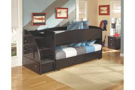 embrace loft bed with caster and left steps ashley furniture
