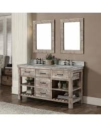 Single Sink Bathroom Vanity by Amazing Deal Infurniture Rustic Style 60 Inch Double Sink
