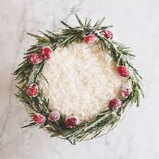 DIY Holiday Wreath Cake