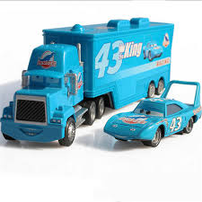 King Pixar Cars 43 HAULER DINOCO Mack Super Liner Truck Diecast Toy ...