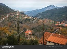 100 Kalavrita Scenic View To Small Village In Mountains Near Greece