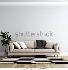 modernes interieur wohnzimmer wand hintergrund mock up