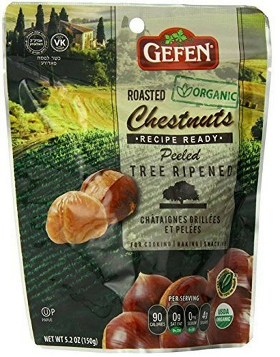 Gefen Organic Whole Roasted and Peeled Chestnuts - 5.2oz, 4 Pack