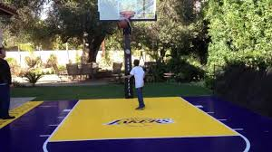 LOS ANGELES LAKERS COURT AT THE BACKYARD - YouTube 6 Reasons To Install A Backyard Basketball Court Synlawn Yard Voeyball Dimension 2017 2018 Car Review Best Outdoor Dimeions Fniture Design Plans Wiring View Systems And Gallery Cba Sports Half Picture On Cool Spalding Arena Hoop Sport Experienced Courtbuilders Indoor Athletic Flooring Cstruction In Portable Goals