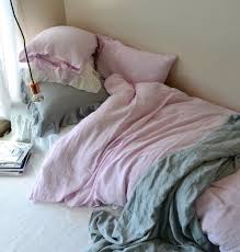 Dusty Pink Stonewashed Linen Duvet Doona Quilt Cover
