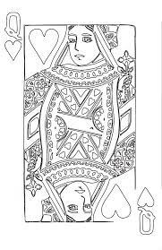 Queen Of Hearts Coloring Page 2