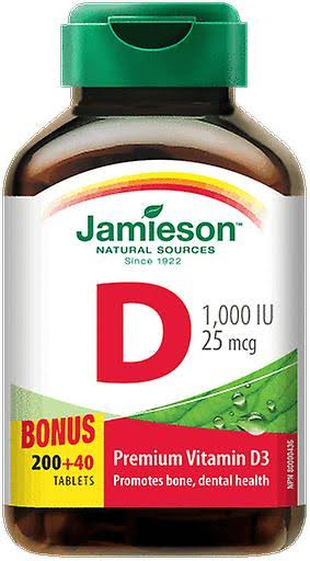 Jamieson Vitamin D Chewable - Tangy Orange, 100ct