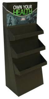 Cardboard Floor Display With 3 Shelves