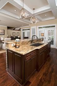 kitchen breathtaking island sink side mesmerizing pendant