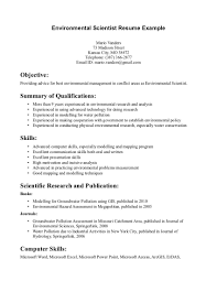 Environmental Science Resume Sample Resumecareer Info Rh Com Computer Skills On Example Teacher Examples