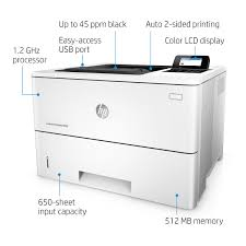 HP LaserJet Enterprise M506dn SingleFunction Monochrome Printer F2A69A