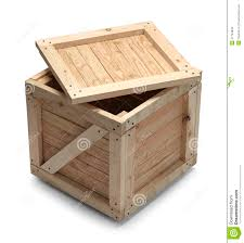 Wood Crate And Lid