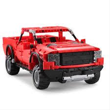 Red DOUBLE E C51005 549pcs Building Blocks Bricks RC Pick Up Truck ...