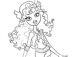 Monster High Lagoona Blue Coloring Page