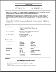 Examples Of First Resumes