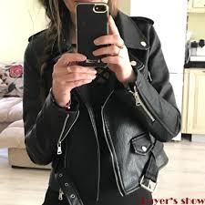 popular leather jacket women winter buy cheap leather jacket women