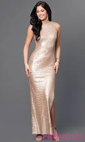 long gold sequin emerald sundae dress promgirl