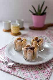 recette de verrines chocolat cœur coco et biscuits cuillère