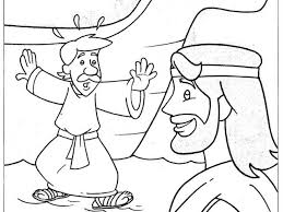 Peter Walks On Water Coloring Page For Kids