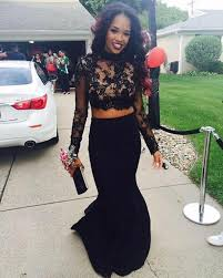 online get cheap prom dresses 2 piece mermaid black aliexpress