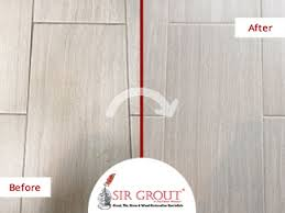 a grout recoloring service enhanced the look of this tile