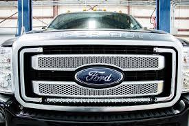 100 Ford Truck Grill 30in Single Row LED Light Bar Hidden E Kit For 1116 Super