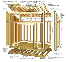8x12 lean to shed plans 01 floor foundation wall frame lawn care