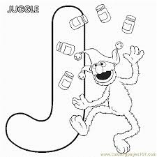 Abc Letter J Juggle Sesame Street Grover Coloring Pages 7 Com Page