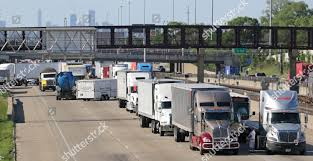 100 Truck Accident Chicago Traffic Stopped Near Scene Accident Caused When Editorial Stock