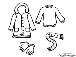 Clip Art Winter Clothes Coloring Page Pages Cachedwinter