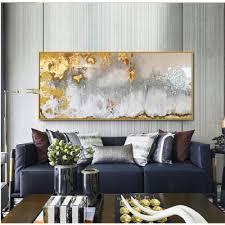 fangyuan abstrakte malerei gold grau weiß wunderschöne